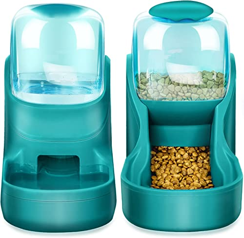 XingCheng-Sport Alimentador automático para Mascotas pequeñas y Medianas. Alimentador automático y dispensador de Agu...