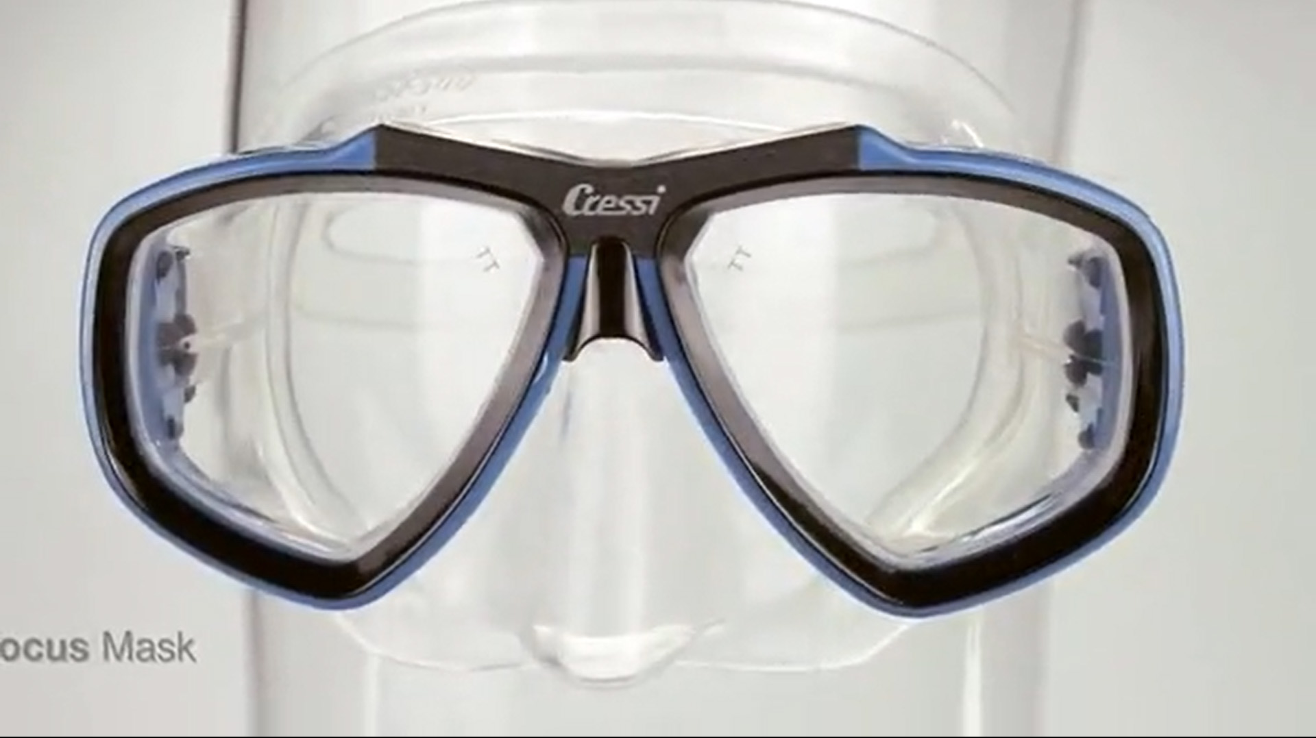 Cressi First Dive Mask with Inclined Lenses for Scuba Diving - Optical Lenses Available - Focus: made in Italy