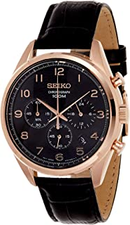 Seiko Men's Chronograph Quarts Watch Black SSB296P1