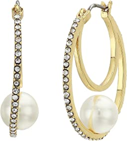 Pearl Trapped Hoop Earrings