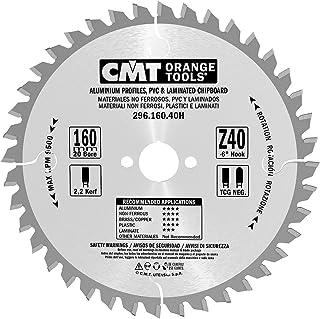 CMT Orange Tools Cirkelsågblad HW 160 x 2,2/1,6 x 20 Z=40 TCG – 296.160.40H – för järnfritt material, plast och laminat