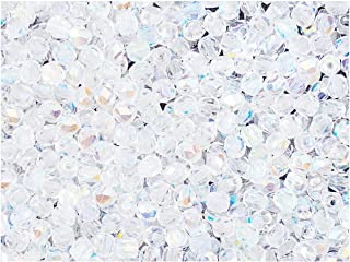 600 pcs Czech Fire-Polished Faceted Glass Beads Round 3mm, Crystal AB