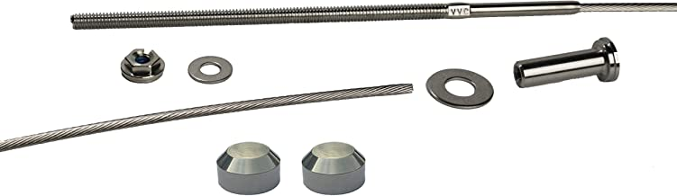 VistaView CableTec - Fast and Easy Stainless Steel Cable Railing Installation Kit for Deck Railing for 4x4 and 6x6 Posts - 1/8 Inch Cable, 10 Feet with Long Terminals and Stainless Chamfer Caps