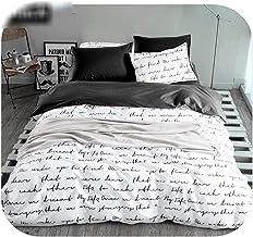 Bed Sheet:Letter Printing Duvet Cover Sets King Activity Bedding Sets Ru USA Size,Quilt Cover Sheet Set Bedroom Bedding Be...