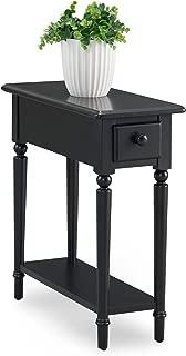 Leick Coastal Notions Chairside Table, Swan Black