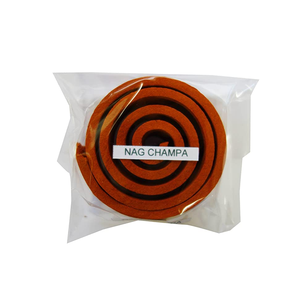 フラッシュのように素早く雇った製油所お香/うずまき香 Nag Champa ナグチャンパ 直径5cm×5巻セット [並行輸入品]