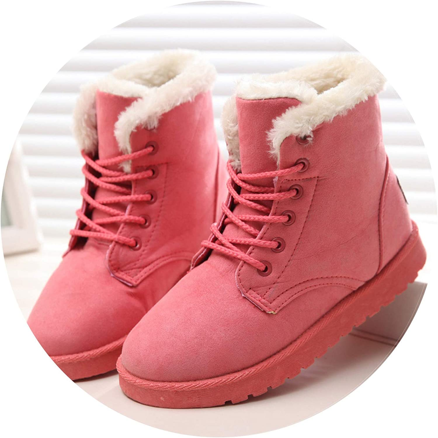 Women Boots Winter Super Warm Snow Boots Women Suede Ankle Boots for Female Winter shoes women Plush Booties