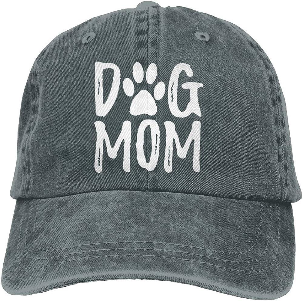 Splash Brothers Customized Unisex Dog Mom Vintage Jeans Adjustable Baseball Cap Cotton Denim Dad Hat