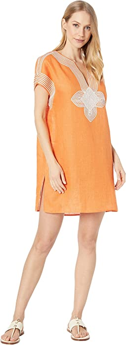 Embroidered Beach Tunic Cover-Up