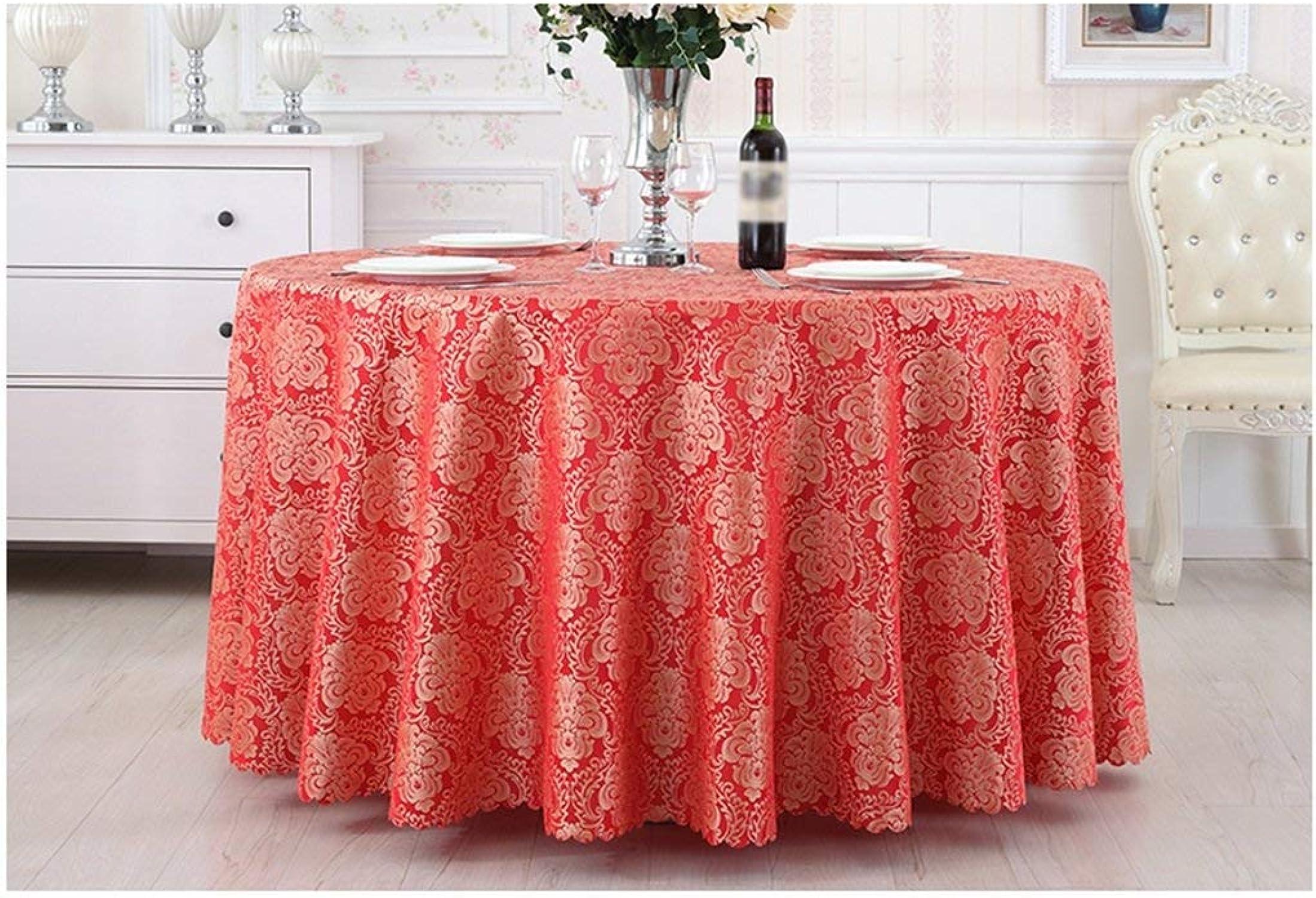 JZX Nappe de ménage, nappe de table basse, nappes, restaurant, style européen, nappe ronde de table à hommeger, nappe de style européen peut être personnalisé Taille optionnelle,140  200cm
