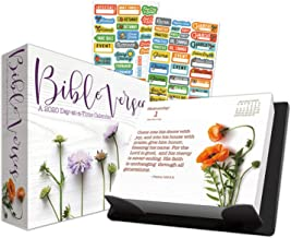 Bible Verses 2020 Calendar, Box Edition Set - Deluxe 2020 Christian Scripture Day-at-a-Time Box Calendar with Over 100 Calendar Stickers (Religious Gifts, Office Supplies)
