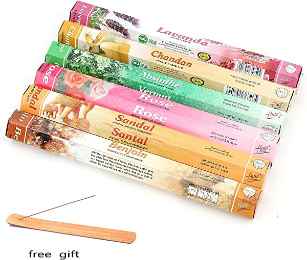 QIAN SHENG Incense Sticks Essential Oil Organic Incense Lavender Sandalwood Rose And More Stick Incense Perfect For Church Aromatherapy Relaxation Meditation 6 Pack