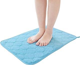 ルックス 浴室足ふきマット ブルー 約40cm×60cm タオル感覚で使えるマイクロファイバー足ふきマット バスマット