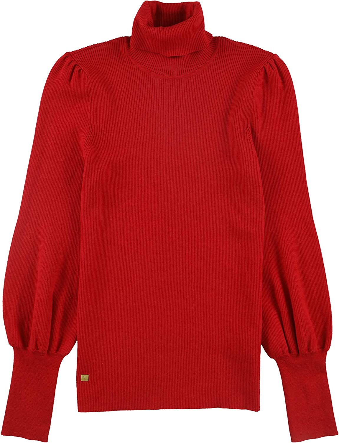 Ralph Lauren Womens Puff-Sleeve Pullover Sweater, Red, Large