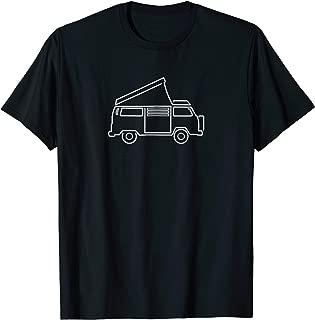 Camper Van T-shirt | Westy Pop-up Hippie Bus
