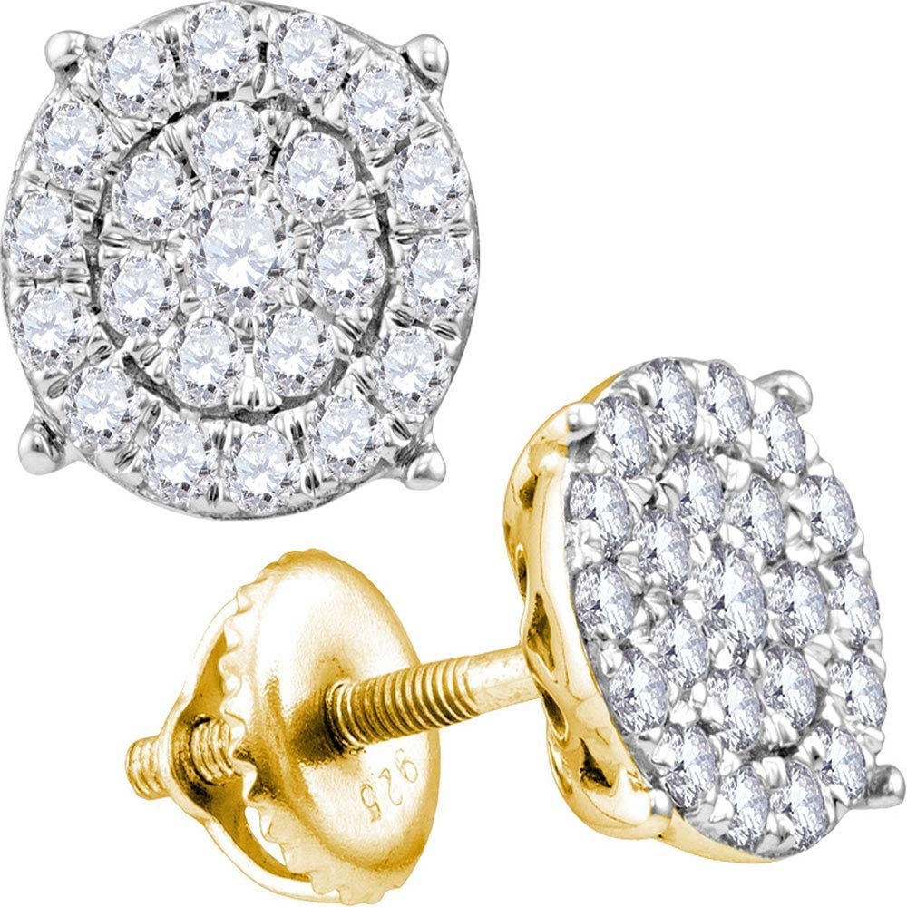 The Fashionable Diamond Deal 14kt Yellow Gold Be super welcome Round Womens Concentri
