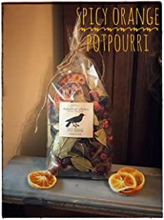 Homestead Studios Spicy Orange Potpourri - Delicious Sweet and Spicy Orange Scent - Perfect Potpourri for Holidays, Fall, Winter Summer, All Year Round