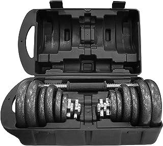 nextgen Unisex Adult Cast Iron Dumbbell 20 kg Set - Black, L 43 X W 25 X 16 cm