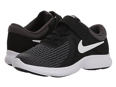 Nike Kids Revolution 4 WIDE (Little Kid) (Black/White/Anthracite) Boys Shoes