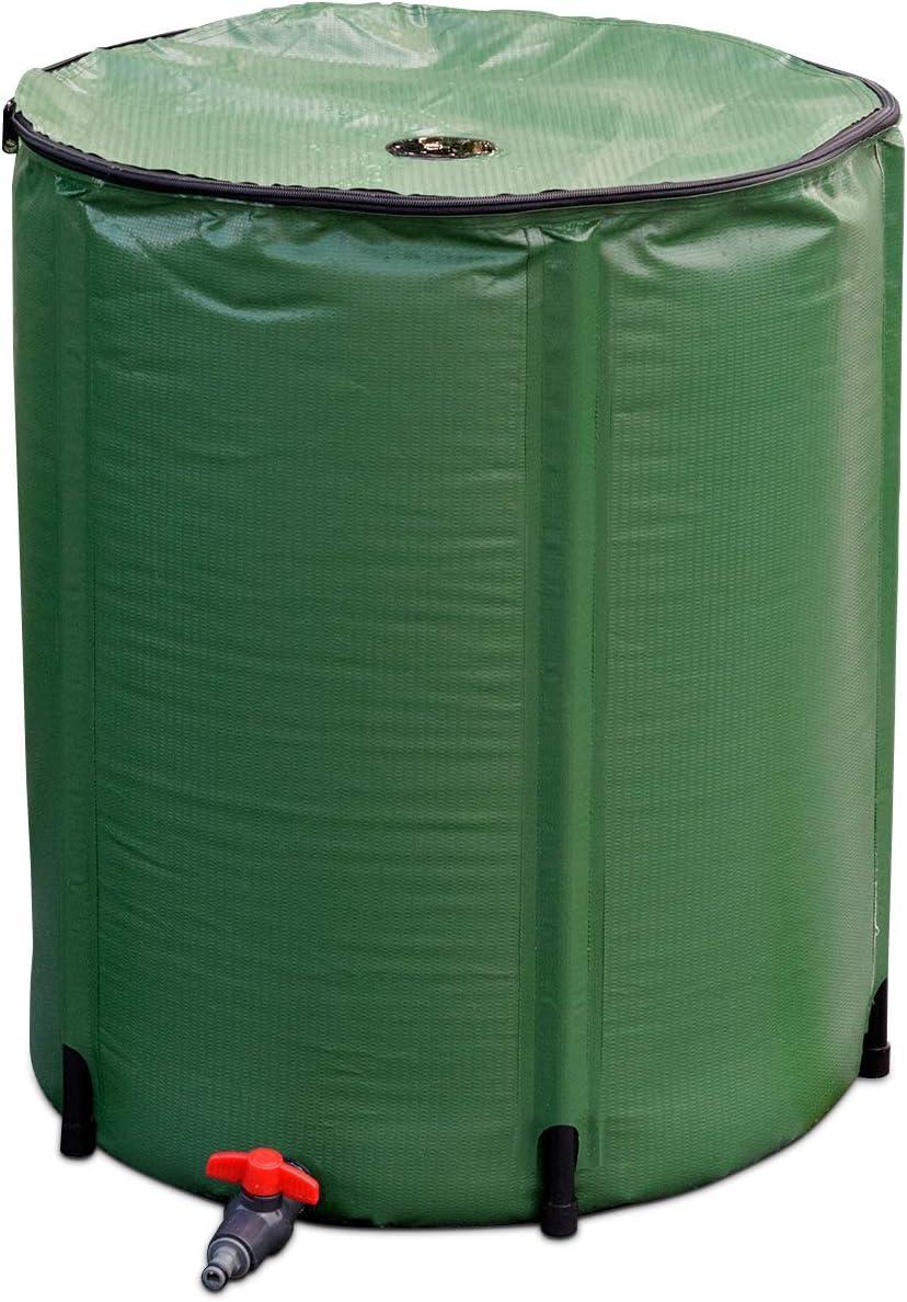 発売モデル Goplus Portable Rain Barrel Water Collapsible w Tank Collector 新品未使用 S
