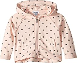 Dot Print Hoodie Jacket (Infant)