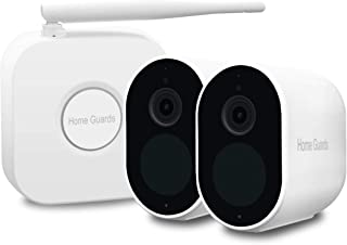 Home Guards 1080P HD Wireless Security Camera Outdoor/Indoor, 120-Days Battery Life, Human Detection, IP65 Weatherproof, H...