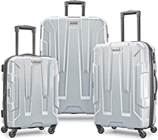 Samsonite Centric Hardside Expandable Luggage with Spinner Wheels, Silver, 3-Piece Set (20/24/28)