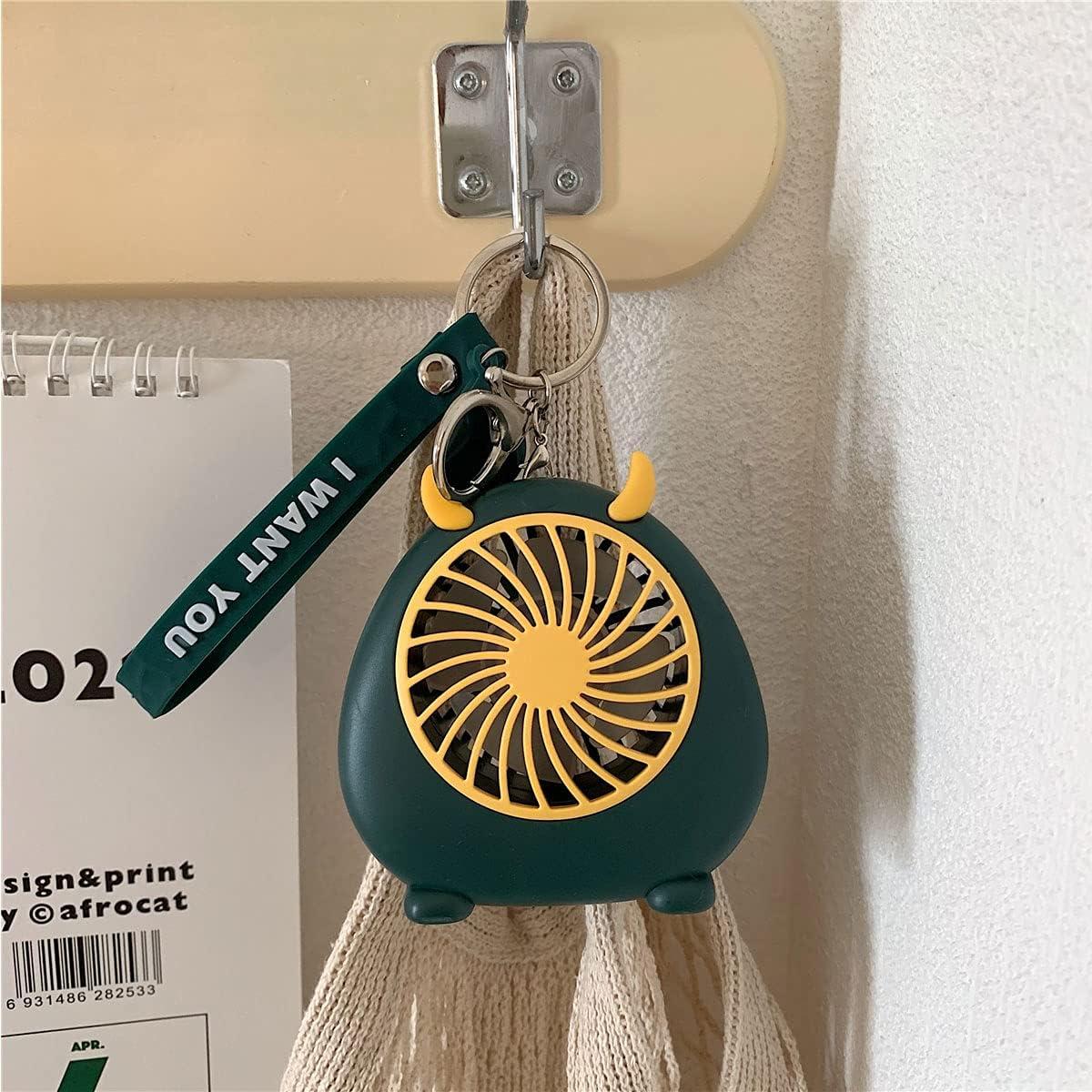 Desk Fan, Portable Fan, Handheld Mini Fan, USB Mini Fan,Rechargeable Small Pocket Fan for Sport, Office, Home, Outdoor, Travel (green)