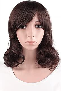 MapofBeauty Daily Use Medium Curly Wig (Dark Brown)