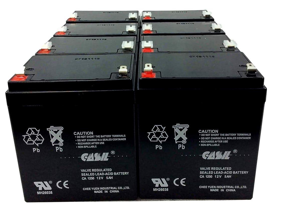 アンテナ騒影のあるCasil 12v 5ah 4.5ah 4ah Razor E100 E125 E150 E175 電動スクーター Razor E100 RBC20J RBC29 RBC30 RBC42 RBC43 RBC42 バージョン2 5.5Ah HR5.5-12-T2 HR5.5-12T2 Vision CP1250 CP 1250の交換用 8 Pack CA1250