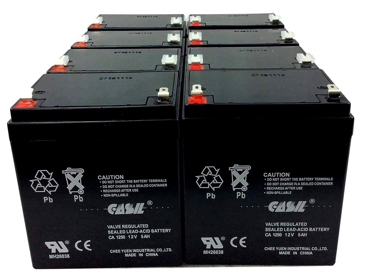 ご意見自伝フィードオンCasil 12v 5ah 4.5ah 4ah Razor E100 E125 E150 E175 電動スクーター Razor E100 RBC20J RBC29 RBC30 RBC42 RBC43 RBC42 バージョン2 5.5Ah HR5.5-12-T2 HR5.5-12T2 Vision CP1250 CP 1250の交換用 8 Pack CA1250