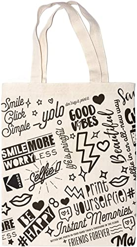 """popular Kodak Canvas Camera Tote Bag 100% Cotton, Cute sale and Stylish Reusable Beach Bag outlet sale for Shopping, Gym, Yoga, School and Photography Gear (15""""x15"""") outlet online sale"""