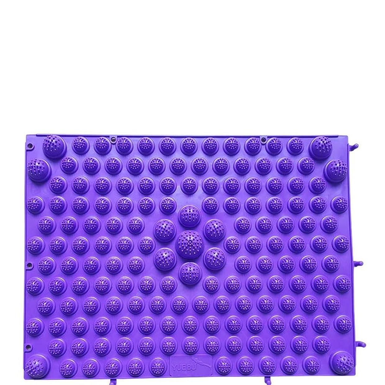 シュートただやる抹消ヨガマット 体操用マット 無味はプレートの足を指します小さい冬のタケノコ圧力指大きい極度の苦痛のマッサージパッドの出版物のつま先 体操マット (Color : Purple)