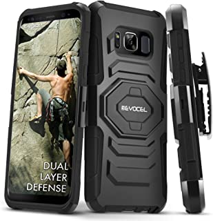 Galaxy S8 Active Case, Evocel [New Generation] Rugged Holster Dual Layer Case [Kickstand][Belt Swivel Clip] for Samsung Galaxy S8 Active SM-G892 (Does NOT fit Regular S8 - only S8 Active), Black