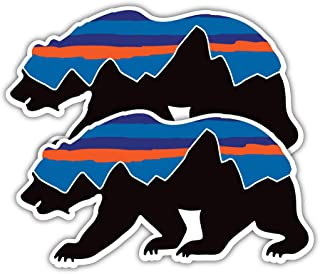 36496933ab307 Summit Stickers Patagonia Bear Decals for Water Bottles Mountain Camping  Travel Adventure Fishing  Premium Matte