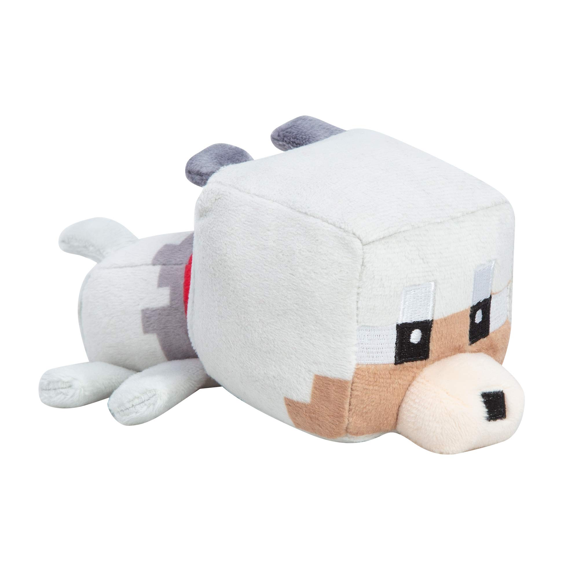 "JINX Minecraft Mini Crafter Tamed Wolf Plush Stuffed Toy, Gray, 8"" Long"