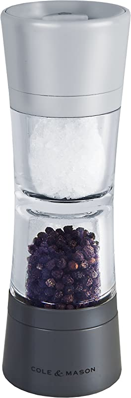 Cole Mason Lincoln Duo Salt And Pepper Grinder Combo Acrylic Combination Mill Includes Premium Salt And Peppercorns