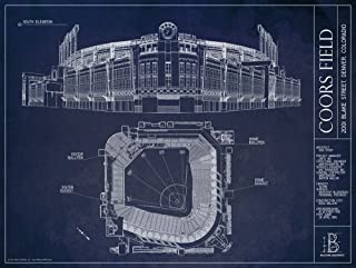 Coors Field Blueprint Style Print
