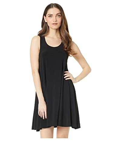 KAMALIKULTURE by Norma Kamali Racer Flared Swing Dress (Black) Women