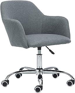 Silla de escritorio con ruedas, silla de oficina en casa, cojín de asiento grueso, acolchado grueso para mayor comodidad y diseño ergonómico para silla de oficina en casa