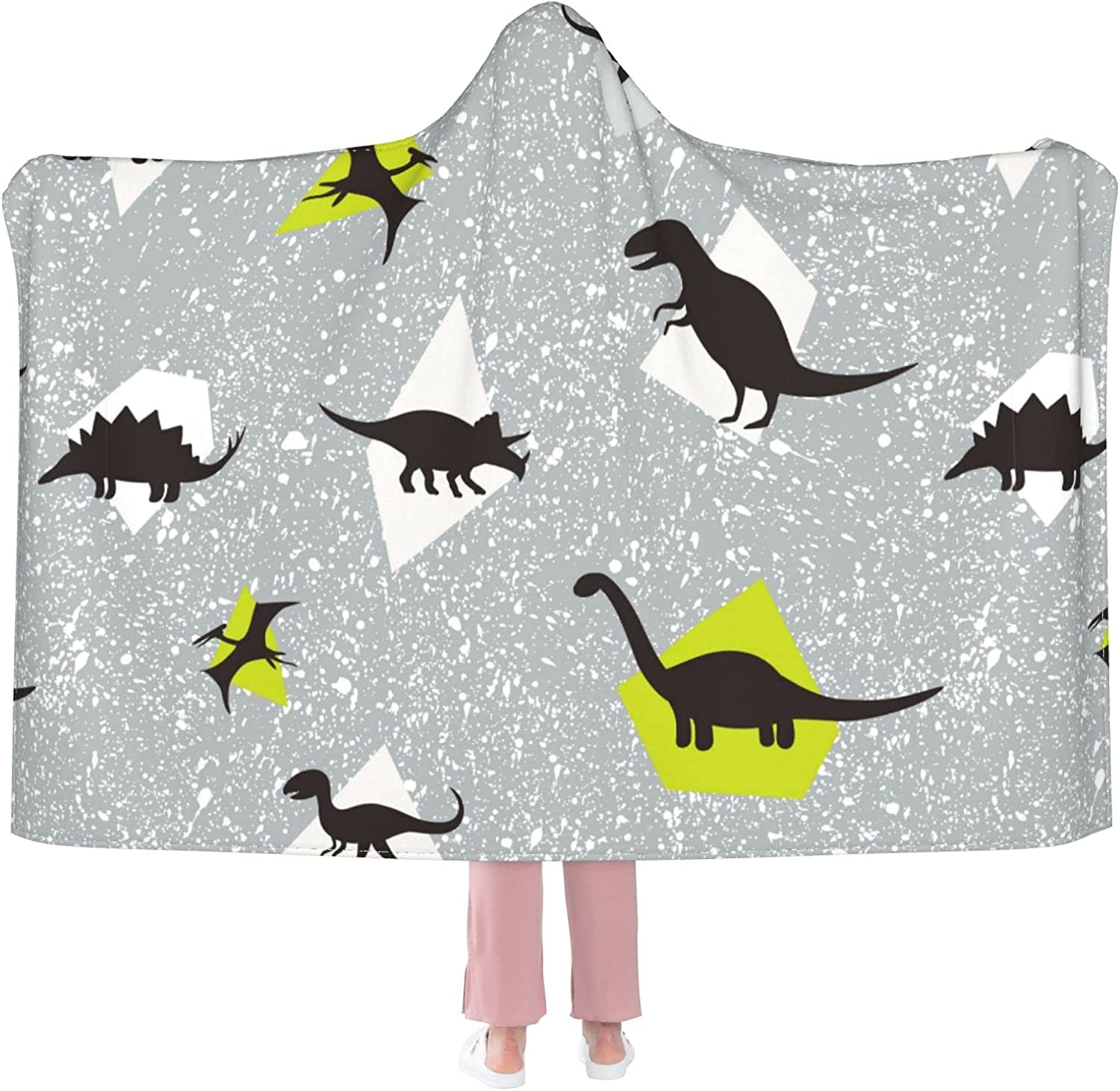 Cute Dinosaurs 35% OFF online shop Hooded Blanket for Adults Teens Anti-Pilling Kids