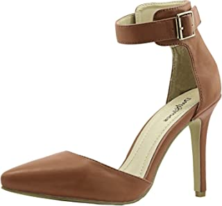 Women's High Heel Pointed Toe Ankle Buckle Strap Evening Party Dress Casual Sandal Shoes