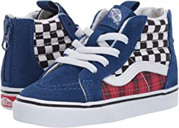 (Plaid Checkerboard) True Blue/Racing Red