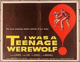 I Was A Teenage Werewolf (1957) Original U.S. Half Sheet Movie Poster 22x28 MICHAEL LANDON YVONNE FEDDERSON TONY MARSHALL Film Directed by GENE FOWLER, JR.