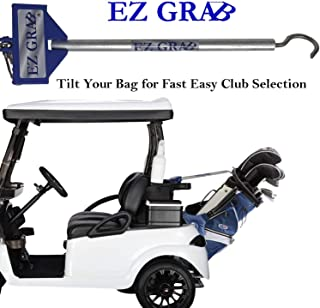 Keyfit Tools EZ Grab Tilt Your Golf Bag for Fast Easy Club Selection Works On Cart Bags & Stand Bags Like Titleist Callaway Ping Taylormade Sun Mountain & EZGO Yamaha Club Car Golf Cart Accessory