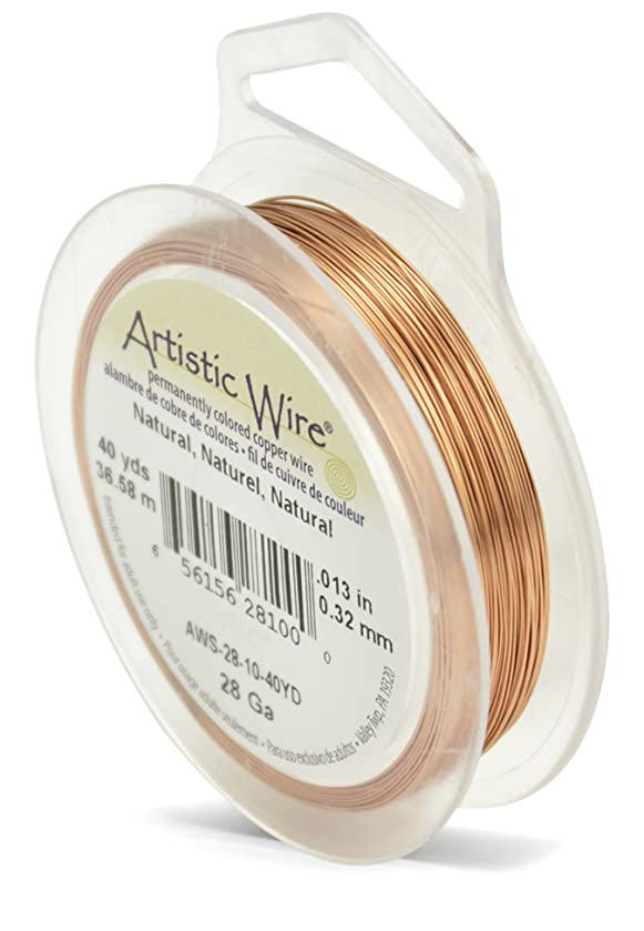 Beadalon Artistic Wire 28-Gauge Natural Wire, 40-Yards