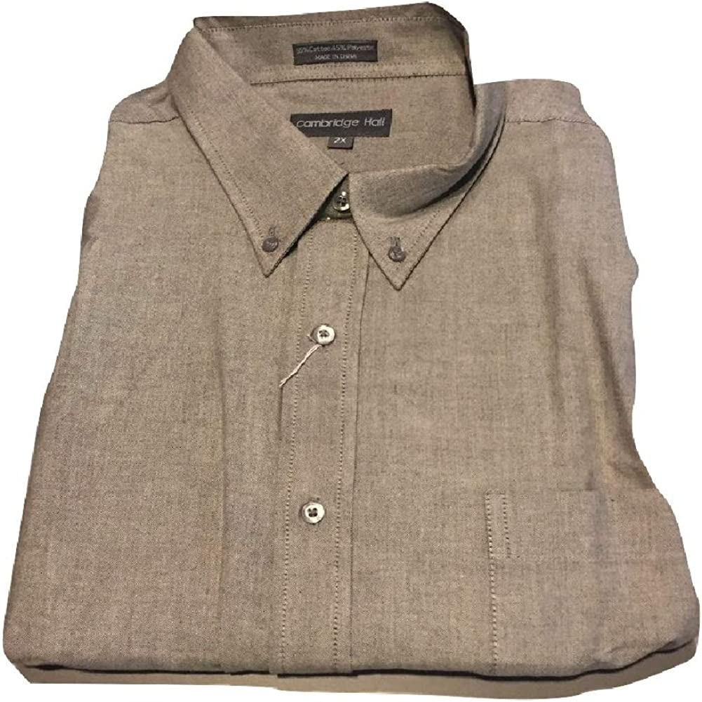 Big and Tall Traditional Button Down Oxford Short Sleeve Wrinkle Free