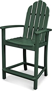 POLYWOOD Adirondack Counter Height Chair, Green