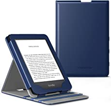 MoKo Case Fits All-New Kindle (10th Generation, 2019) / Kindle (8th Generation, 2016), Premium Vertical Flip Cover with Au...