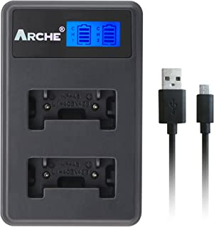 ARCHE LI-42B LI-40B LI-40C LI-41C LCD 双充电器适用于[奥林巴斯 Stylus 1040、1050W、1060、107010、7020、7030、Tough 3000、TG-310、TG-320、VR310、VR310、VR320数码相机]